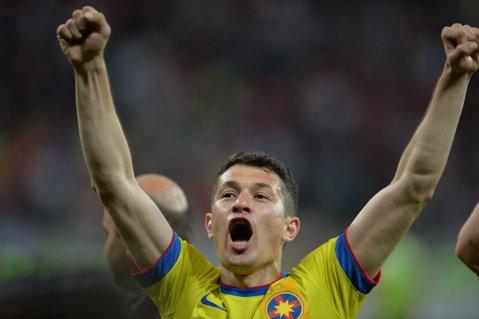 """Prepeliţă, după al 11-lea meci fără succes al """"câinilor"""" contra Stelei: """"Nu cunosc sentimentul de a fi înfrânt de Dinamo"""". Ce spune mijlocaşul despre lupta la titlu cu ASA Târgu Mureş"""