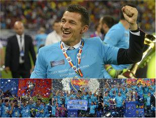 """Sezon 3D pentru Gâlcă: antrenorul pleacă, deşi a câştigat trei trofee! Victorie clară a Stelei în finala Cupei României cu """"U"""", scor 3-0"""