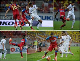 Experimentul lui Rădoi. Steaua - CFR 1-1. Alcenat a debutat cu o pasă decisivă pentru Tudorie. Clujenii au lovit bara în ultimul minut de prelungiri