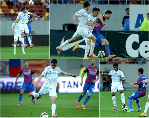 Botoşani - Steaua 0-1. Campioana a obţinut în genunchi a doua victorie din actualul sezon din Liga 1