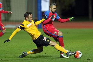 Campioana a pierdut ultimul meci amical al iernii. Steaua - Trencin 0-1. Marica a jucat toate cele 90 de minute şi a lovit bara