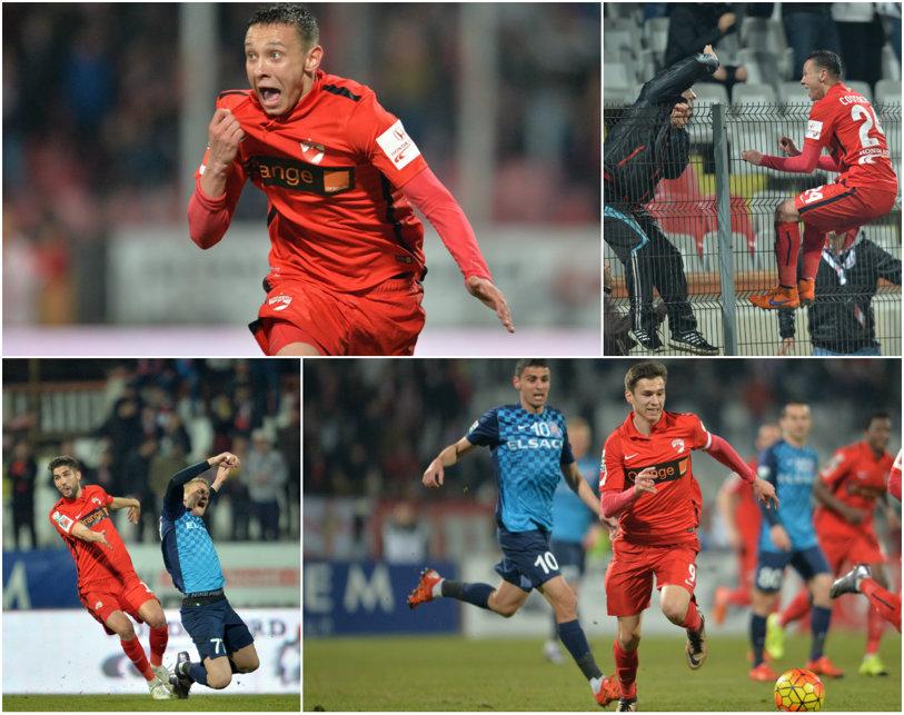 Valentine's Costache. Puştiul de 17 ani înscrie la primul meci ca titular şi aduce victoria în Dinamo - FC Botoşani 1-0