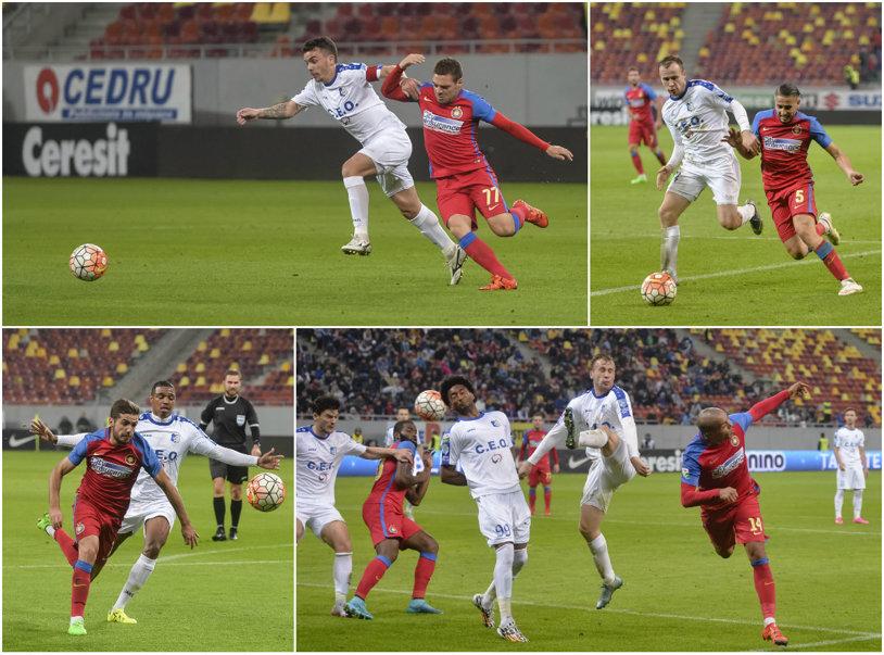 Pandurii - Steaua 0-1. Stanciu transformă penalty-ul acordat după un henţ al lui Hora. Steaua e lider pentru prima dată în acest sezon