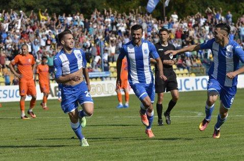 De o bucurie rară avură parte. CS U Craiova - FC Botoşani 1-0. Olteanii sunt la egalitate de puncte cu liderul Steaua