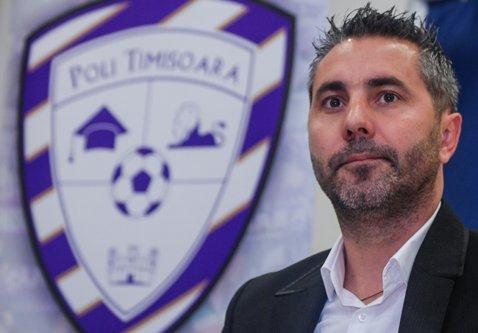 Adrian Neaga este noul manager sportiv al echipei ACS Poli Timişoara