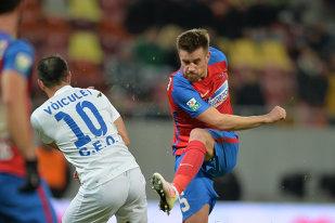 "LIVE BLOG |  Steaua – Pandurii 3-1. Super gol al lui Mihai Pintilii, Enache face ""dubla"" din penalty. Man loveşte bara"
