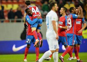 Bucurie în faţa nimănui. Steaua - Pandurii 3-1, însă revenirea pe primul loc a fost sărbătorită cu un stadion pustiu