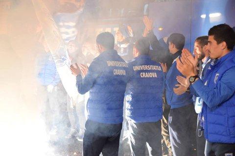 Oltenii invadează Capitala! Fanii echipei CS Universitatea Craiova au la dispoziţie cinci autocare pentru meciul cu Dinamo
