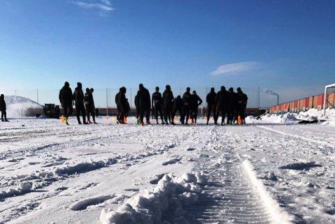 FOTO | Cum arată baza sportivă FCSB din Berceni după topirea zăpezilor