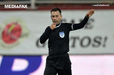 George Găman va conduce partida Gaz Metan - Steaua, din Etapa 25 a Ligii 1
