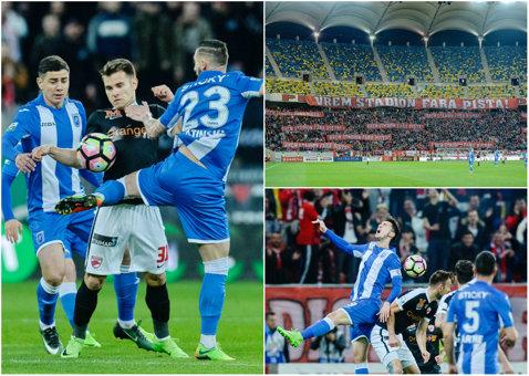 Vor stadion, dar goluri nu vrea nimeni? Dinamo - CSU Craiova 0-0, după un meci în care s-a jucat fotbal doar 20 de minute. Cele două echipe ratează şansa de a urca pe podium