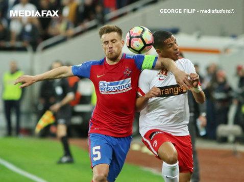 Lupta pentru titlu, cu FCSB în pole position! Echipa lui Reghe face un pas uriaş dacă bate la CFR Cluj, dar nu e suficient. Programul meciurilor până la final şi şansele lui Dinamo la campionat