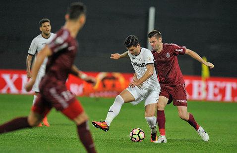 Astra - CFR Cluj 0-1. Deac îşi duce echipa pe podium, cel puţin până la meciul dintre Craiova şi Dinamo. Gazdele rămân pe ultima poziţie a play-off-ului
