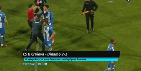 Final încins la Severin! Zlatinski a fost eliminat după ultimul fluier al lui Istvan Kovacs. Bulgarul a sărit la gâtul lui Contra