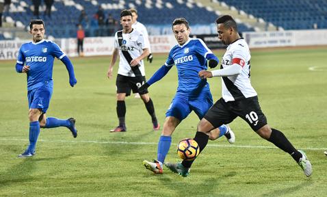 """Glezna fină a lui Eric şi """"dubla"""" lui Buziuc decid Gaz Metan - FC Voluntari. Medieşenii câştigă cu 4-1 şi egalează CSM Poli Iaşi în fruntea play-out-ului"""