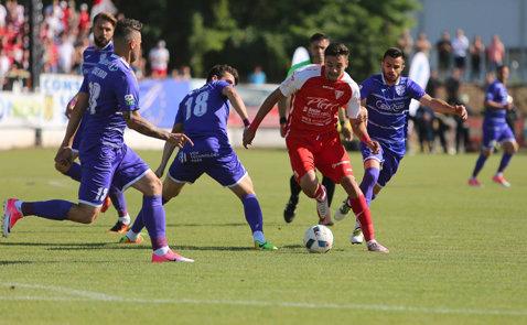 ACS Poli câştigă şi meciul retur al barajului cu UTA şi se menţine în Liga 1. Timişorenii au fost conduşi la Şiria, dar au întors rezultatul