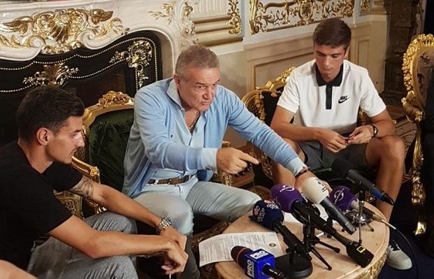 """Clauză de 50 de milioane de euro pentru Nedelcu! """"Poate fi mai bun decât Pique!"""" VIDEO Becali, încântat după ce i-a luat pe Nedelcu şi Benzar. Cât au costat cei doi şi clauza din contractul cu Viitorul"""