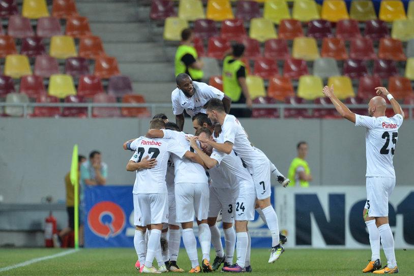 Astra - Juventus Bucureşti 2-0. Giurgiuvenii au obţinut o victorie fără prea mari emoţii în faţa unui adversar demoralizat
