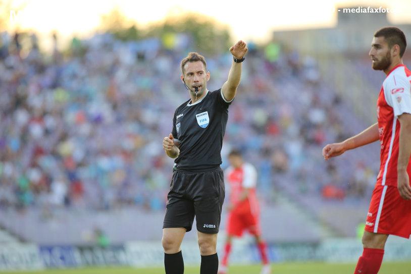 George Găman arbitrează meciul FC Viitorul - FCSB, din etapa a noua a Ligii 1