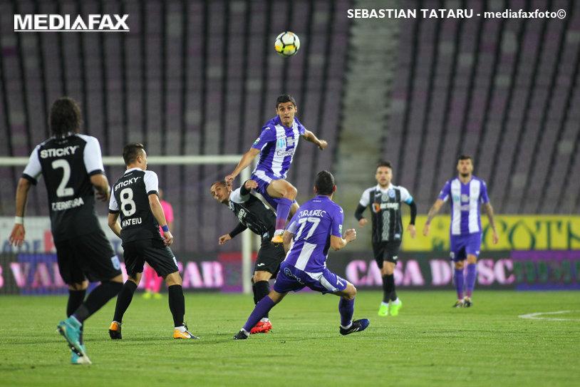 ACS Poli Timişoara - CS U Craiova 0-2. Oltenii urcă temporar pe locul secund. Rezultat ideal pentru Dinamo