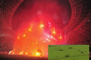 """Stadion de cinci stele, teren de judeţeană! Gazonul a cedat din nou pe Oblemenco.  Jucătorii Craiovei acceptă condiţiile: """"Trebuie să ne adaptăm"""". Reacţia lui Mangia: """"Până şi eu alunecam"""""""