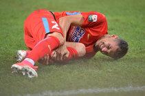 """Îi e frică de Gigi Becali? Romario Benzar a fost forţat şi a suferit o nouă ruptură musculară, dar Dică aruncă vina pe fotbalist: """"Nu se pune problema de recidivă, el ne-a spus că nu e sută la sută apt"""""""