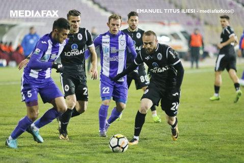 Aniversarea tristă la Timişoara! Pe un ger cumplit, ACS Poli a remizat cu Gaz Metan Mediaş, 1-1