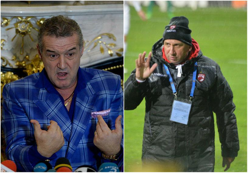 """Becali şi Miriuţă, ca la piaţă :)! """"Sper că ne vreţi în play-off, nea Gigi"""" şi """"Promite-mi tu acum că..."""". Dialog amuzant între cei doi, în direct la TV"""
