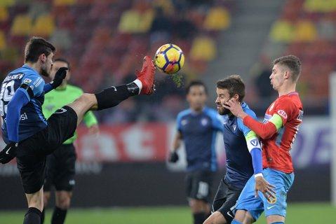 Cod roş-albastru de chin. FCSB câştigă cu 2-0 în faţa Viitorului şi e la două puncte în spatele lui CFR Cluj, însă după un joc nereuşit