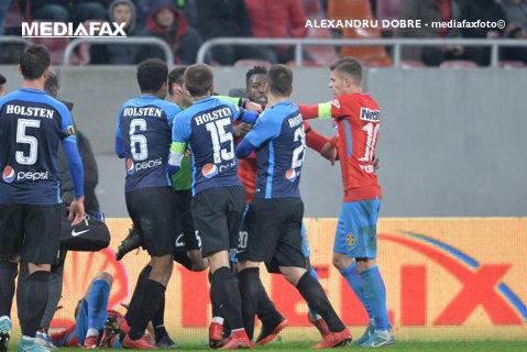 FOTO   Gnohere şi-a lăsat echipa la greu şi ratează meciul cu CFR Cluj. Verdictul lui Cristi Balaj, după ce Colţescu l-a eliminat direct pe vârful francez