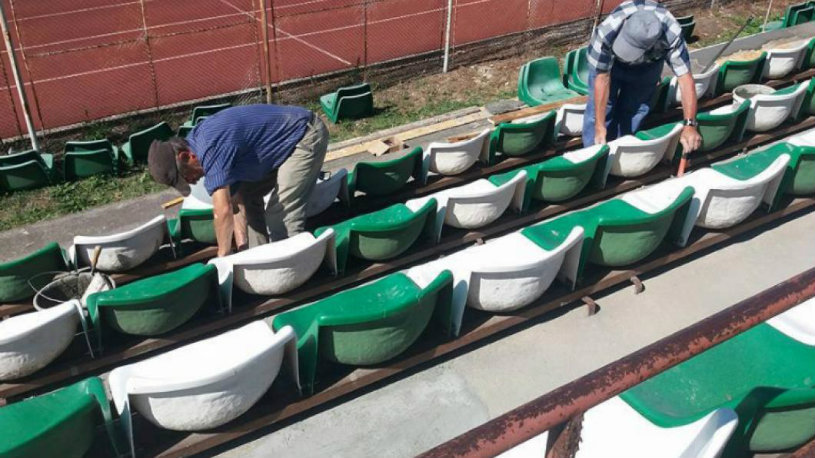 Stadion nou în Liga 1! FOTO | Are 5.000 de locuri şi va fi inaugurat în primăvară. Aşteaptă avizele ISU pentru a fi dat în folosinţă