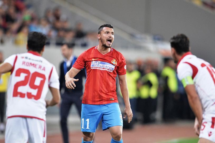 """Ce şansă pentru Dinamo! Pe lângă Gnohere, alţi patru fotbalişti esenţiali pentru FCSB pot lipsi din derby-ul capital pentru accederea """"câinilor"""" în playoff-ul Ligii 1"""