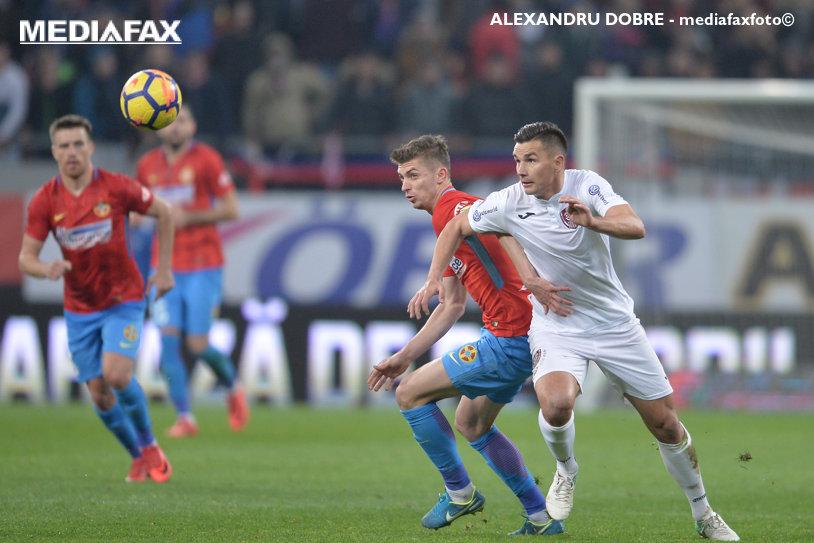LIVE BLOG | FCSB - CFR Cluj 1-1. Vinicius a deschis scorul la capătul unui carambol în careul vicecampioanei, Budescu a egalat după o neglijenţă a lui Mureşan