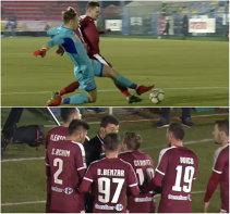 Scandal în FC Voluntari - CS U Craiova. Nu s-a jucat aproape cinci minute după ce ambele tabere s-au ciocnit, iar Claudiu Niculescu a fost trimis în tribună. Faza care a pornit războiul | FOTO