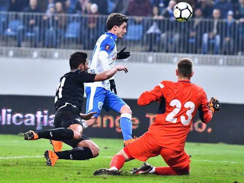 CS U Craiova - Astra 1-0. Oltenii urcă pe locul secund, FCSB e obligată să câştige cu Viitorul