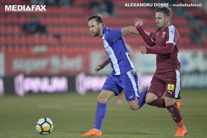 Voluntari - ACS Poli Timişoara 1-0. Cernat a marcat în ultima secundă dintr-un penalty comis de Oliva
