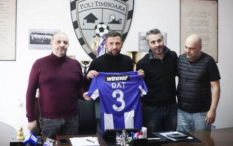 """Raţ, prezentat oficial la ACS Poli! """"Dinamo? Să zicem că nu am ajuns la un numitor comun!"""""""