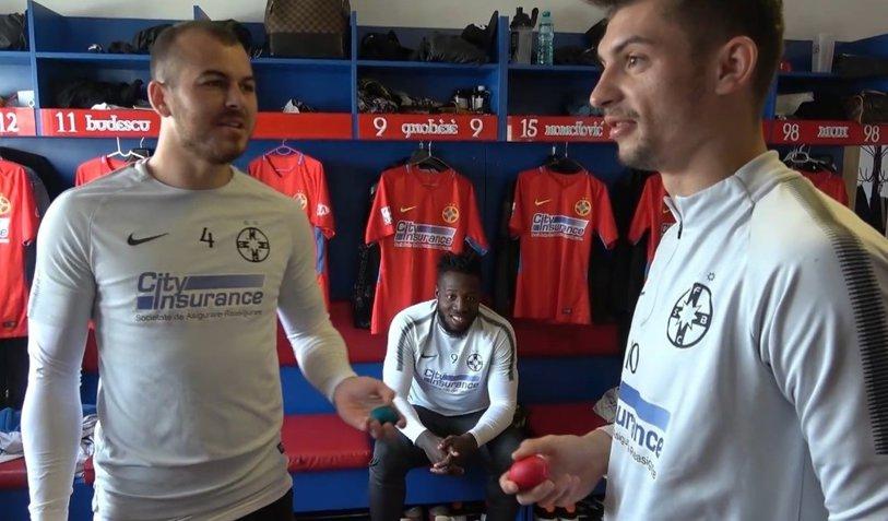 """VIDEO   Voie bună în cantonamentul FCSB-ului. Bălgrădean n-a avut nicio şansă în faţa lui Gnohere: """"Haide, afară!"""""""
