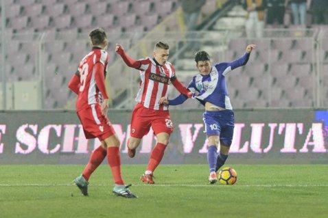 Dinamo - ACS Poli Timişoara 1-0! Neaga e învins în urma unui gol din offside