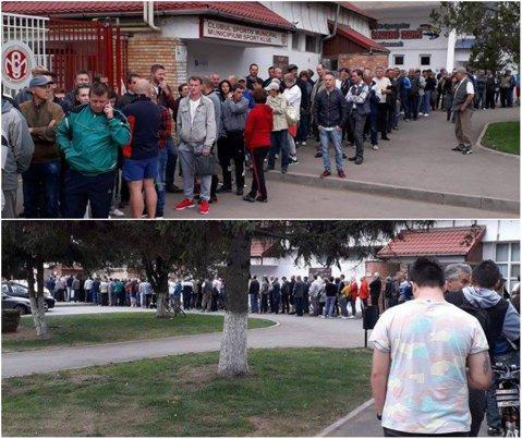 """FOTO   Şi Dinamo umple stadioane, dar în play-out: cozi uriaşe pentru următorul meci al """"câinilor"""". Câţi oameni sunt aşteptaţi pe stadion: """"Fără comentarii"""""""