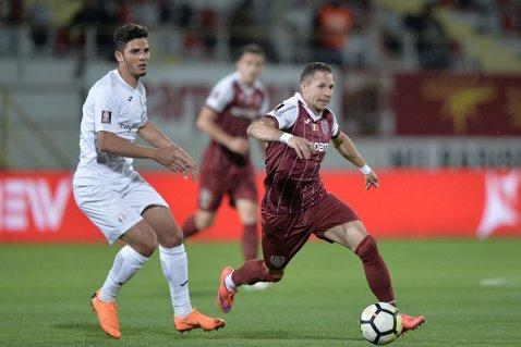 CFR Cluj se impune la Giurgiu şi obţine trei puncte mari în lupta pentru titlu. Craiova o poate face campioană cu o etapă înainte de final