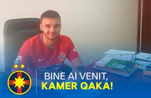 OFICIAL | Qaka, prezentat la FCSB! Ce a declarat la prima zi în tricoul roş-albastru