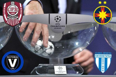 CALCULE | Traseul echipelor româneşti în cupele europene. Viitorul e condamnată la turul I al Europa League, dacă CS U Craiova câştigă finala Cupei. FCSB, singurul cap de serie. Adversari de coşmar pentru restul cluburilor: Sevilla, Celtic, Zenit sau Olympiakos