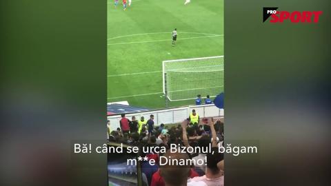 VIDEO EXCLUSIV | Gnohere, chemat de Peluza Roş-Albastră să înjure Dinamo. Reacţia nervoasă a francezului a lăsat fanii fără replică