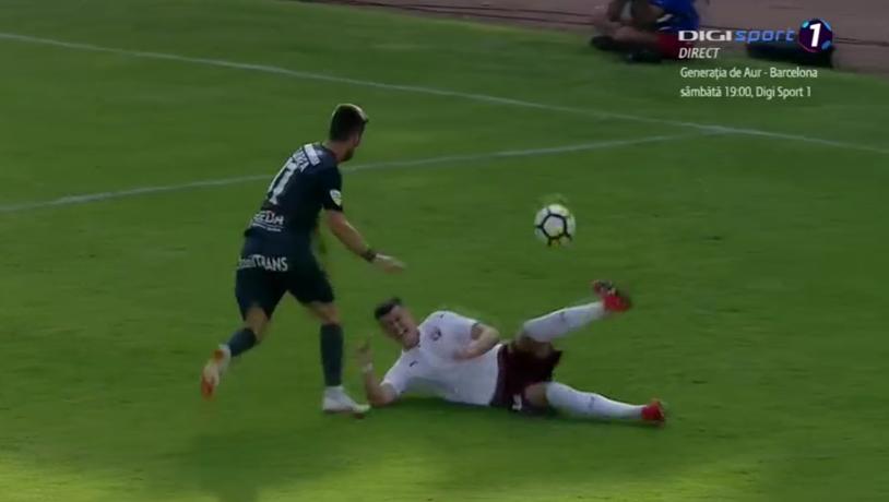 Arbitrii i-au acordat o nouă mână de ajutor lui Mutu! După penalty-ul controversat din meciul cu Juventus, ilfovenii au fost scutiţi de un cartonaş roşu în returul cu Chindia