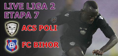 FOTO | ACS Poli - FC Bihor 3-0. Timişorenii reuşesc cea mai categorică victorie în acest sezon