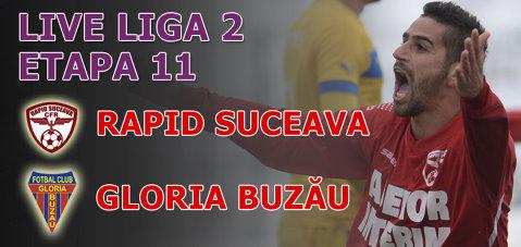 Ultimul meci al turului Ligii 2. LIVE: Rapid CFR Suceava - Gloria Buzău 0-0