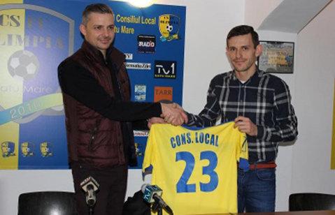 """Dorit de Dinamo şi ACS Poli, Sălăgeanu a preferat să revină la Satu Mare: """"Este momentul să dau puţin din ce mi-a oferit mie Olimpia"""""""