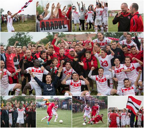 Aradul a sărbătorit pe pâmânt timişean revenirea în Liga 2. UTA Bătrâna Doamnă reuşeşte a doua promovare consecutivă | FOTO şi VIDEO