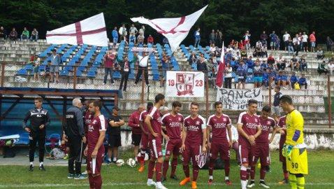 Rapid a învins CS Olimpic Cetate Râşnov, scor 3-0, într-un meci amical